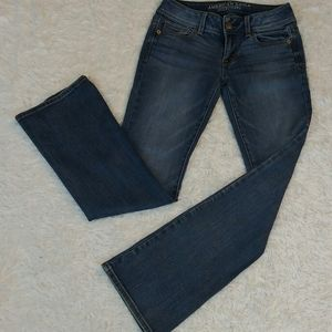 American Eagle Outfitters Boot Kick Blue Jeans